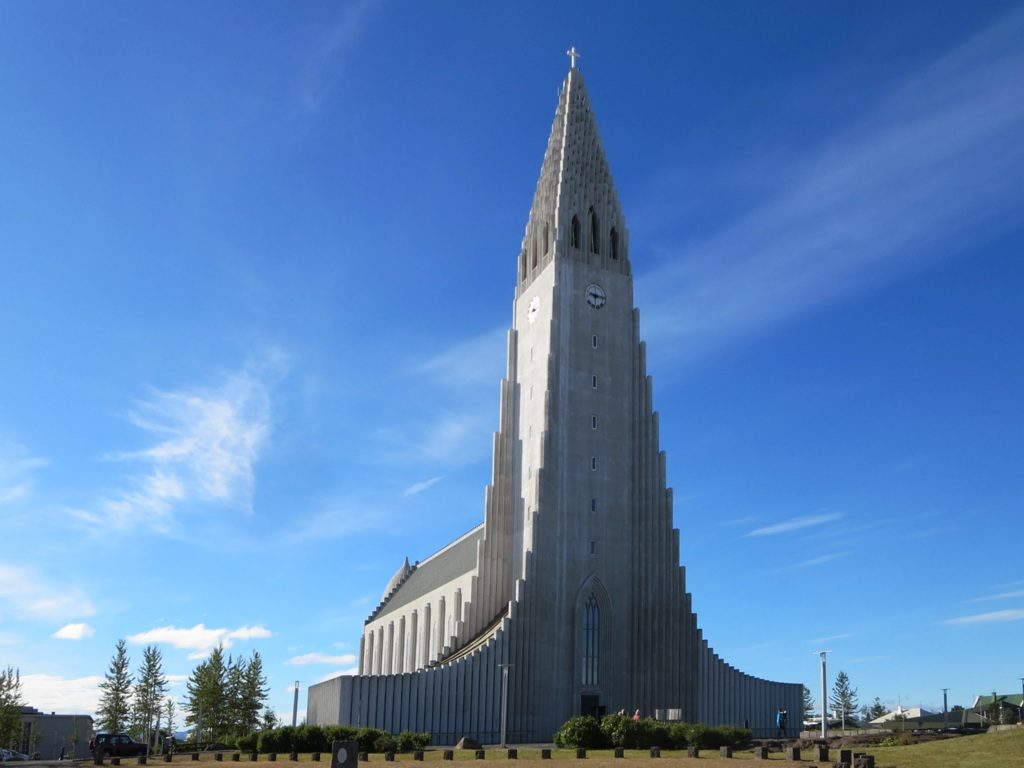 The Hallgrimskirkja in Reykjavik, Iceland, took 41 years to build (1945 to 1986).