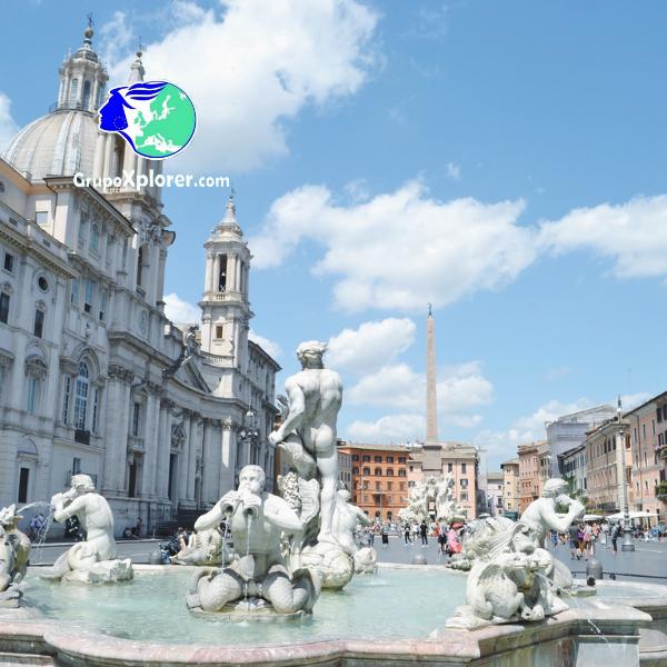 Descubre Roma - Plaza Navona- Grupoxplorer