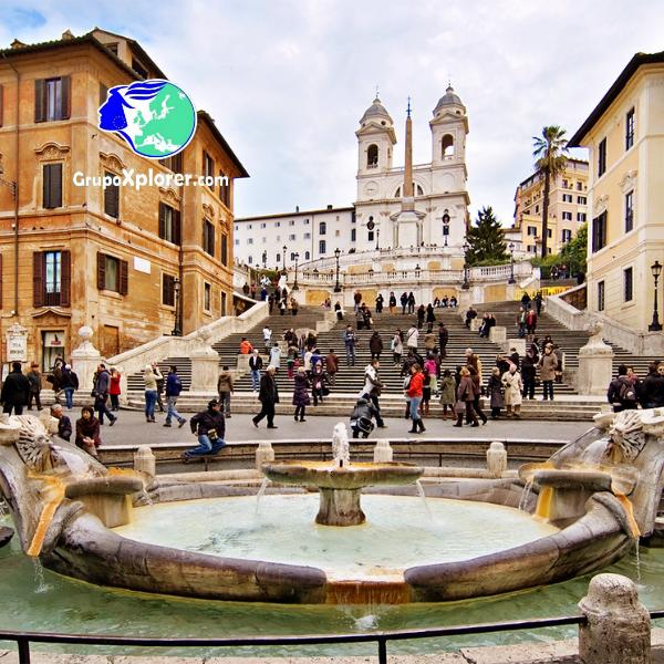 Descubre Roma- Plaza de España. con grupoxplorer