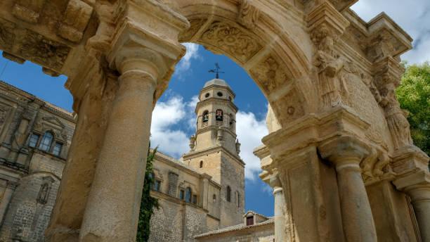 Baeza, Spain - July 28, 2019: Square of Saint Mary