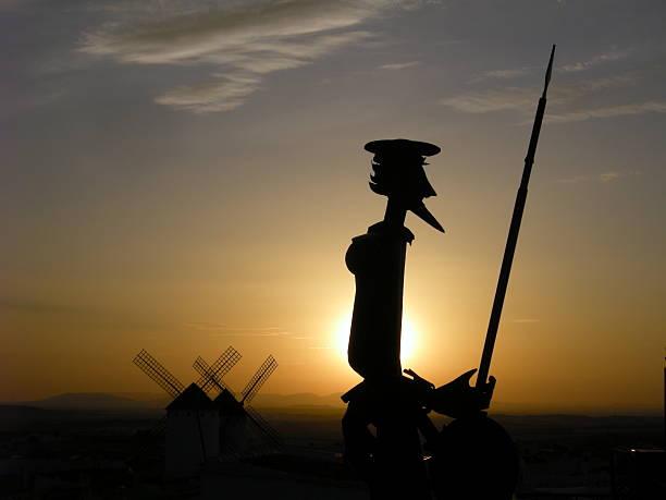 A statue of Don Quixote of La Mancha, in the state of Albacete, Spain
